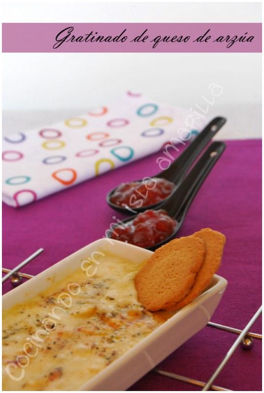 gratinado de queso de arzúa y queso de cabra
