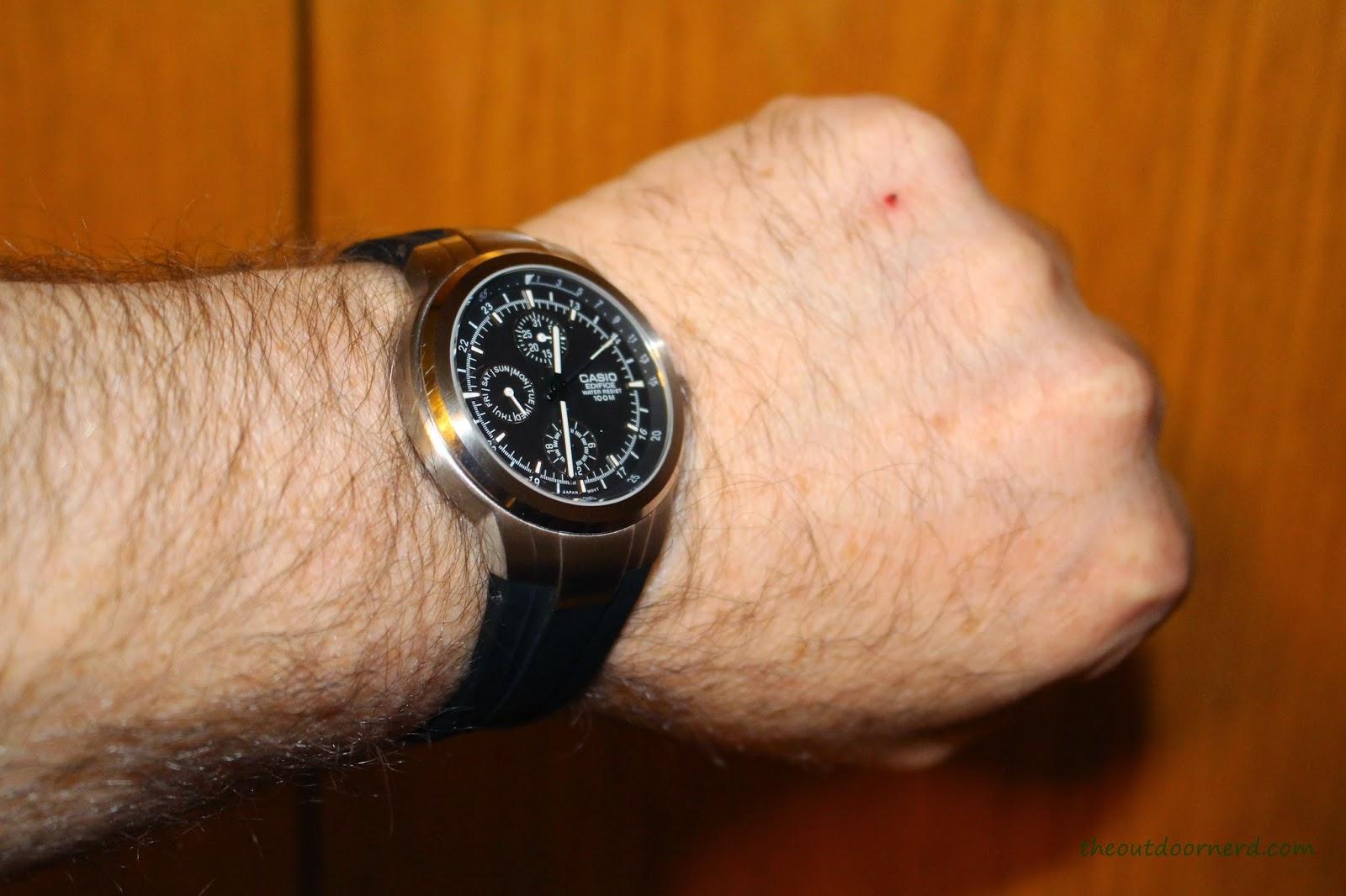 Casio Men's EF305-1AV Edifice Strapped To Wrist