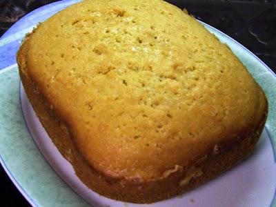 Bolo de limão MFP, máquina de fazer pão