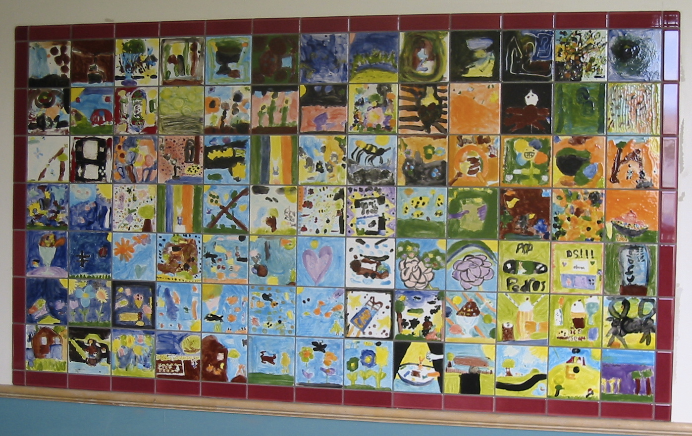 Tile murals for Elementary school mural