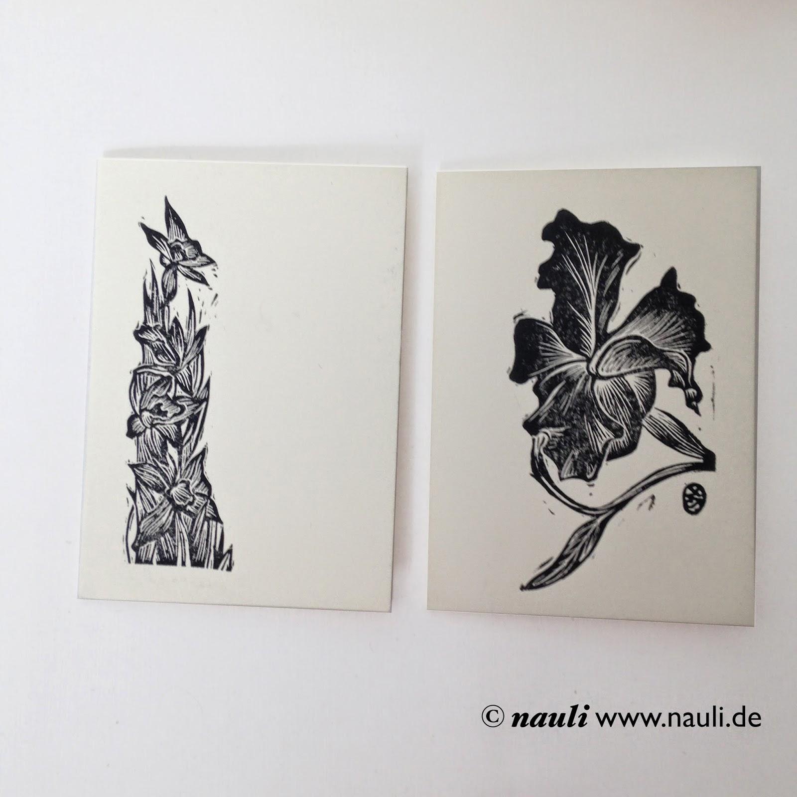 Holzschnitt Trauerkarten