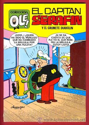 Portada Olé Capitan Serafin y el grumete Diabolin por Segura