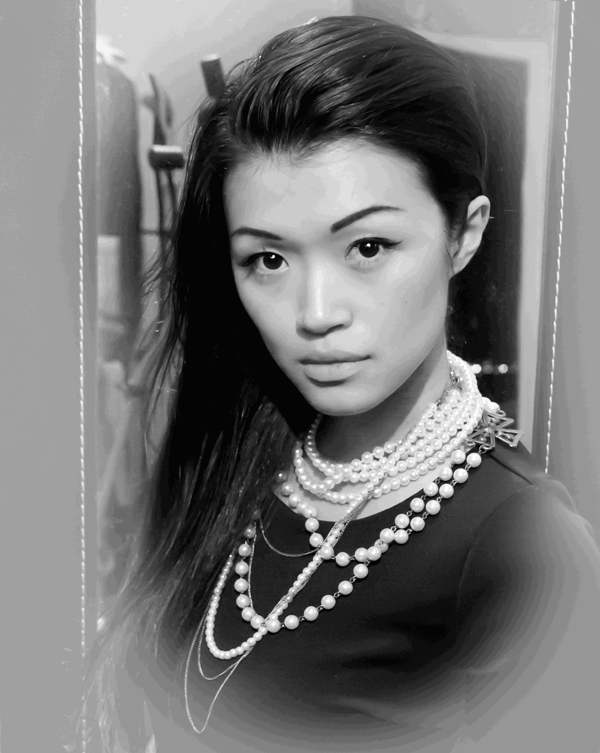 Jasmine Zhu black white Coco Chanel inspired portrait