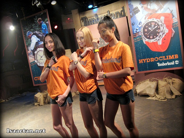 Beautiful models at Timberland Watch Collection Launch Event