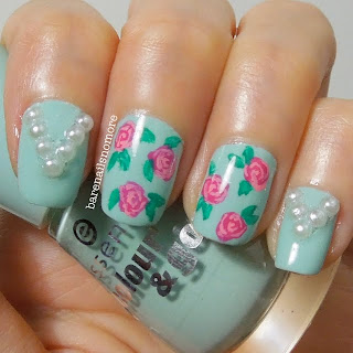 Essence That's What I Mint! with roses and pearls