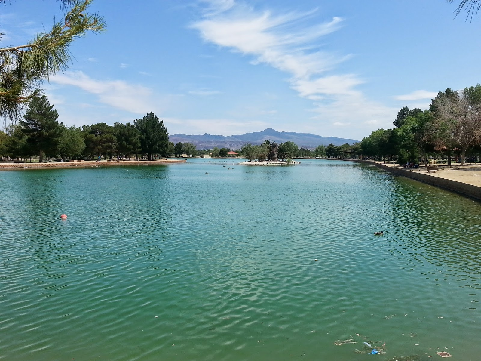family friendly pools and parks in Las Vegas - Sunset Park Pond