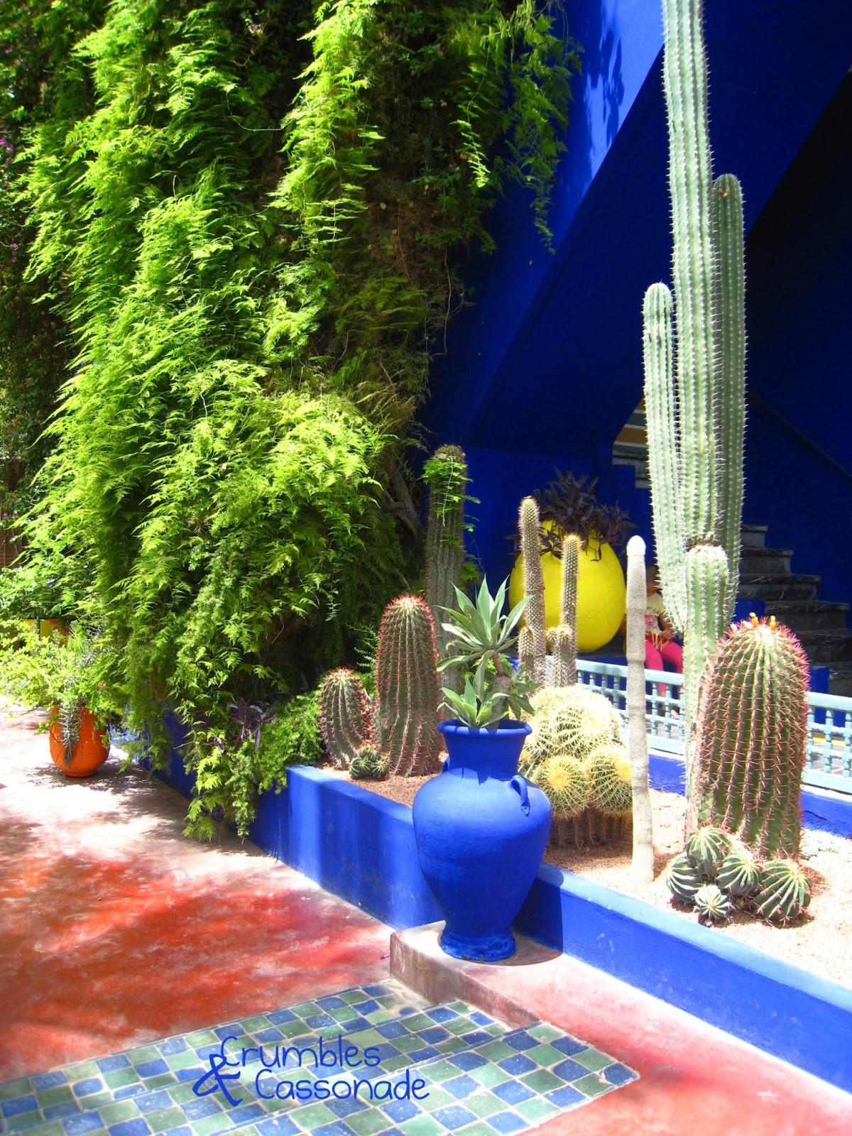 Crumbles et cassonade p r grinations marrakech dans le for Le jardin majorelle