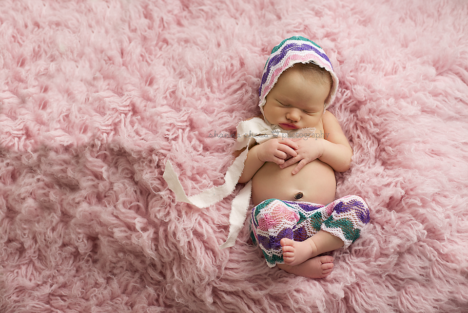 Eugene, OR Newborn Photography pink fur