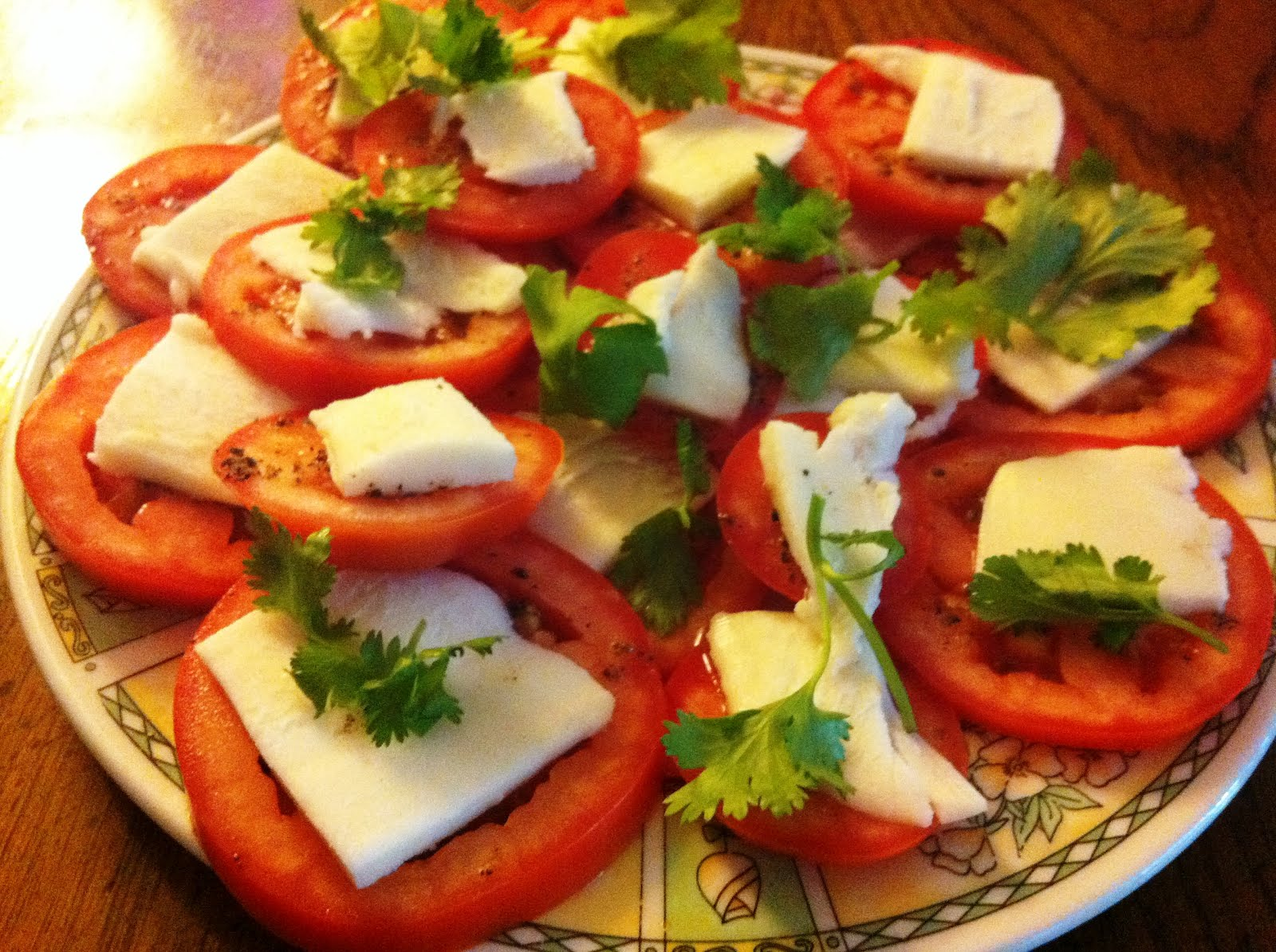Bite Size Goodness: Cilantro Caprese Salad