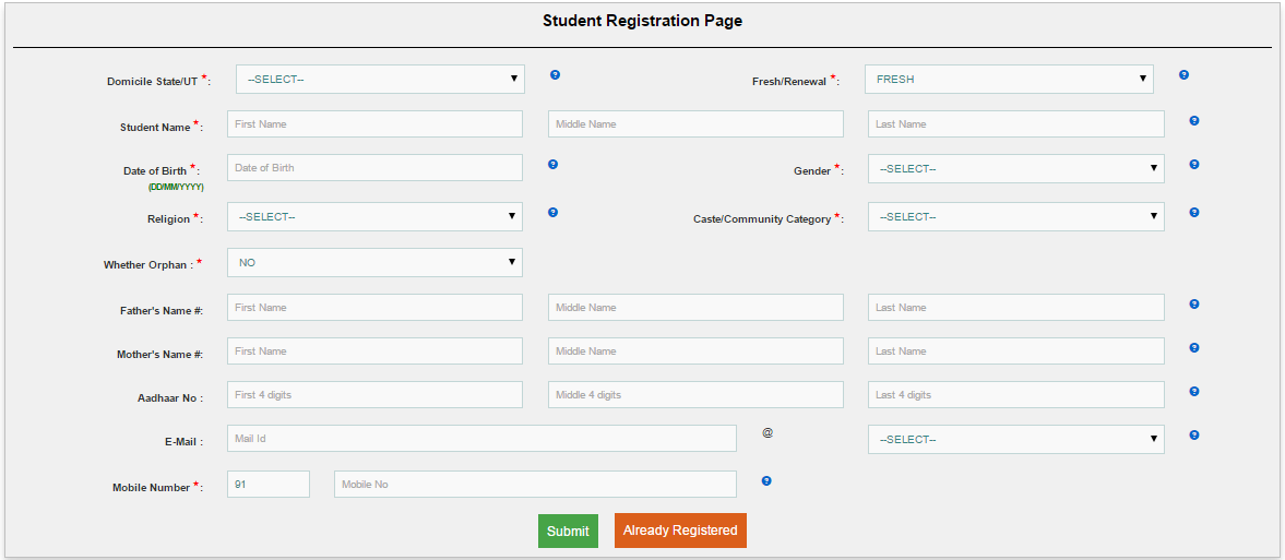 Minority Post Matric Scholarship 2017 Online Application Form – Scholarship Form