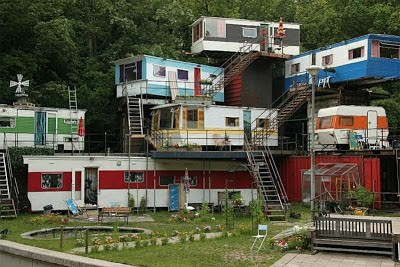 A multi level mobile home mansion