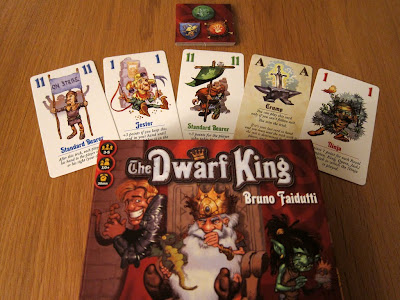 The Dwarf King - The game box and some cards