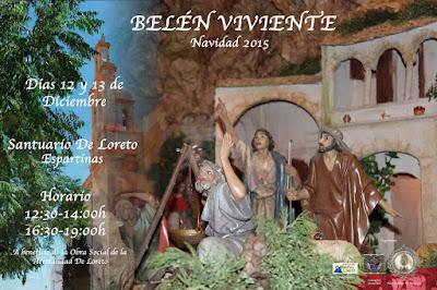 BELÉN VIVIENTE DE ESPARTINAS  2015 - SEVILLA     HDAD DE LORETO