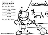 comptine illustré un jour dans sa cabane