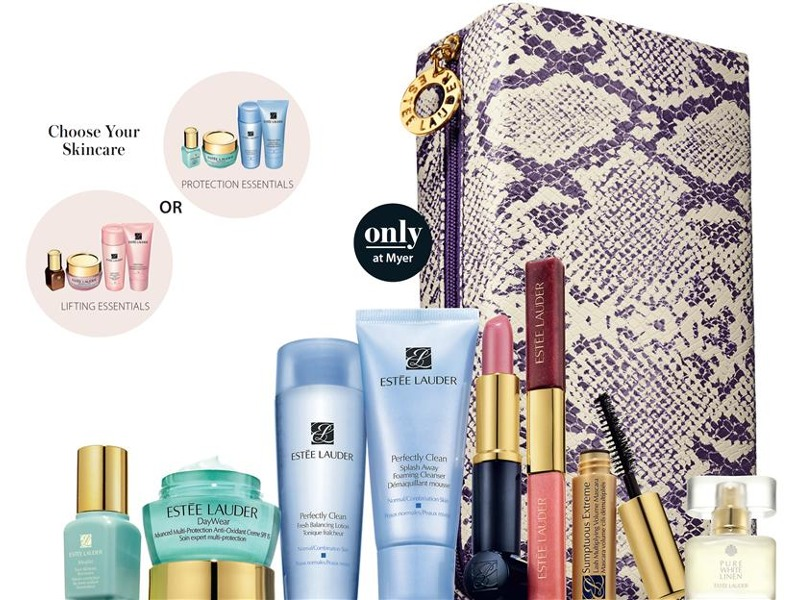 Estee Lauder gift with purchase at Myer - September 2012