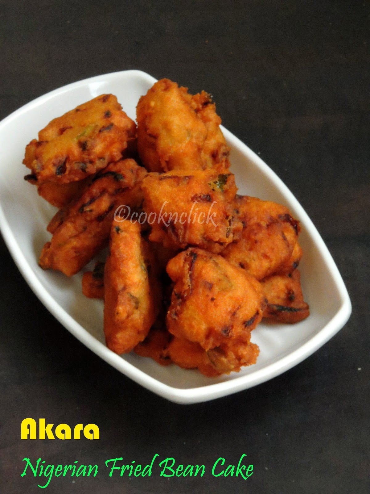 Akara, Nigerian fried bean cake
