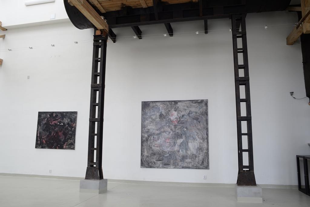 """pohled do instalace výstavy : Bílé noci"""", Galerie Artatak"""