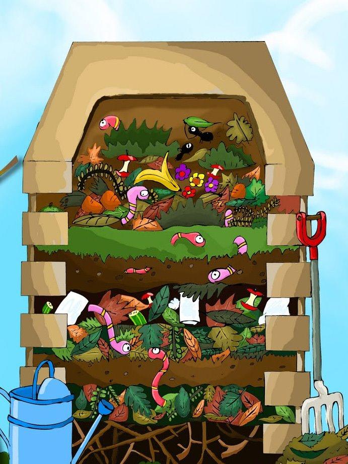 Aire puro descargue manual para hacer compostera en casa - Como hacer compost en casa ...