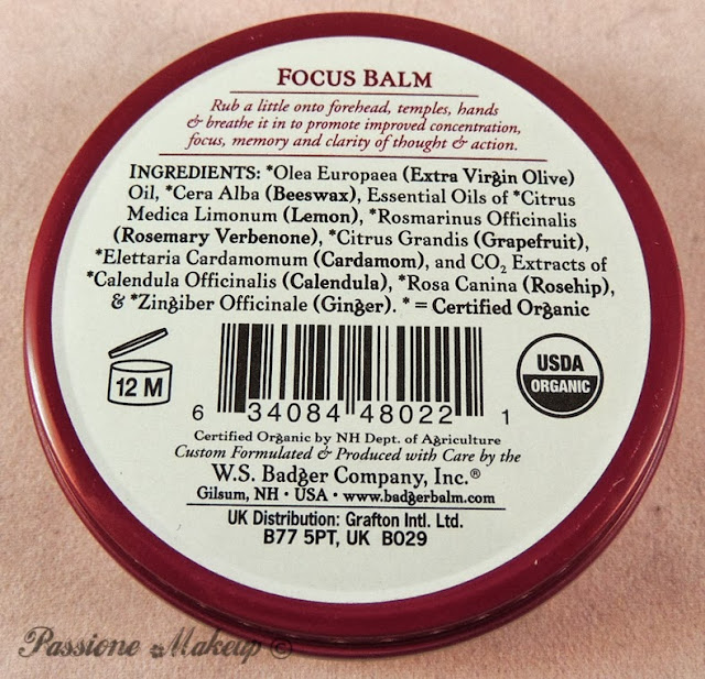 badger balm focus balm inci