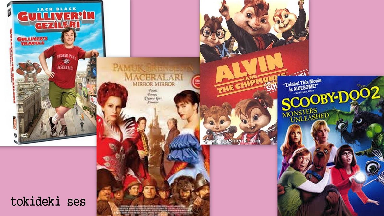 çocuklar ile izlediğim filmler, film, animasyon filmi, film tavsiyem, izlediğim filmler, komedi filmi, sürükleyici film, türk filmi, tavsiye ettiğim filmler, Güliverin gezileri, Pamuk prenses ve maceraları,Alvin ve sincaplar 2, Scooby doo 2