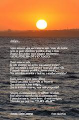 Olhar o por do sol no silêncio de um mar de palavras