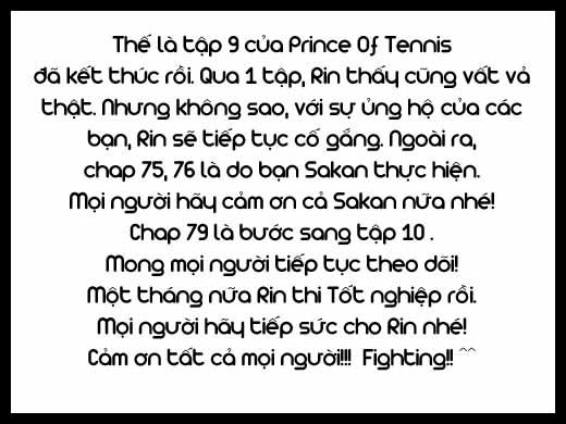 Prince of Tennis chap 78 Trang 22