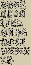 Ornamental Monogram Font