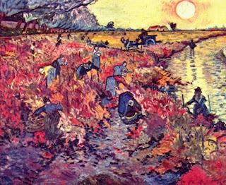 La vigne rouge Vincent Van Gogh