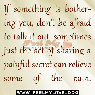 If something is bothering you