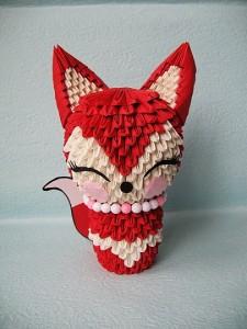 3D Origami Lady Fox