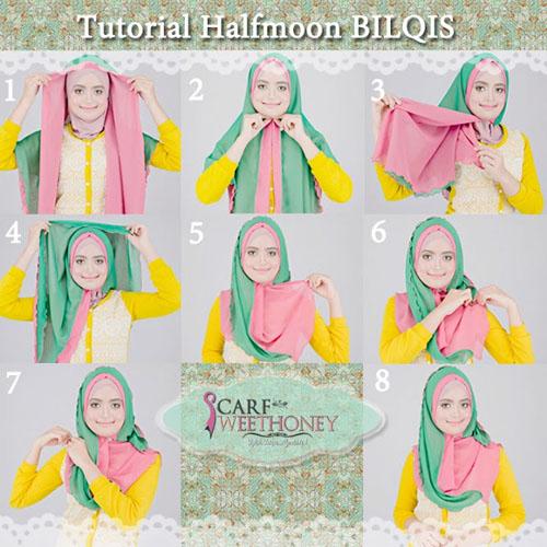 cara memakai hijab modern 4