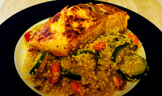 Moroccan inspired Quinoa and Salmon