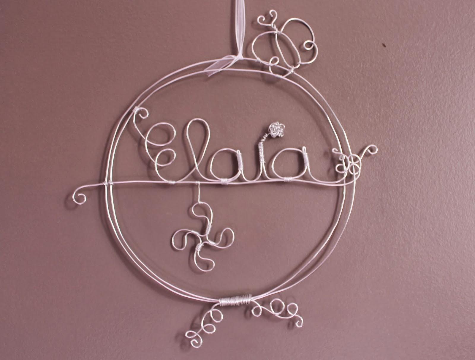 Cr alusam pr nom pour d coration de porte ou d coration for Decoration porte prenom