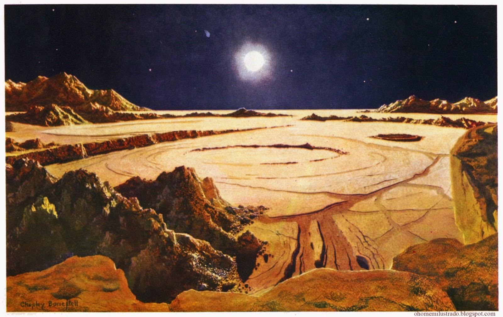 Chesley Bonestell pintura del espacio