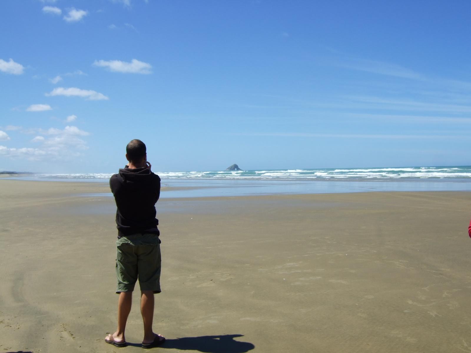 砂浜,90マイルビーチ,NZ〈著作権フリー無料画像〉Free Stock Photos
