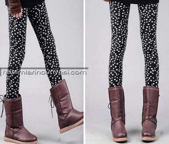 Yeni Moda Bayan Tayt Modelleri