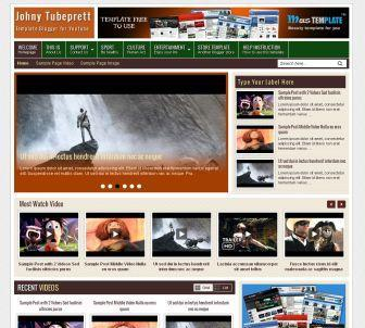 Johny Tubeprett Blogger Template