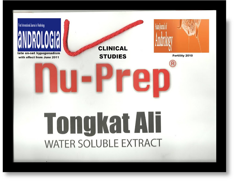 Tongkat Ali Nu-Prep100 Clinical Studies;managing idiopathic infertility,treatment of hypogonadism
