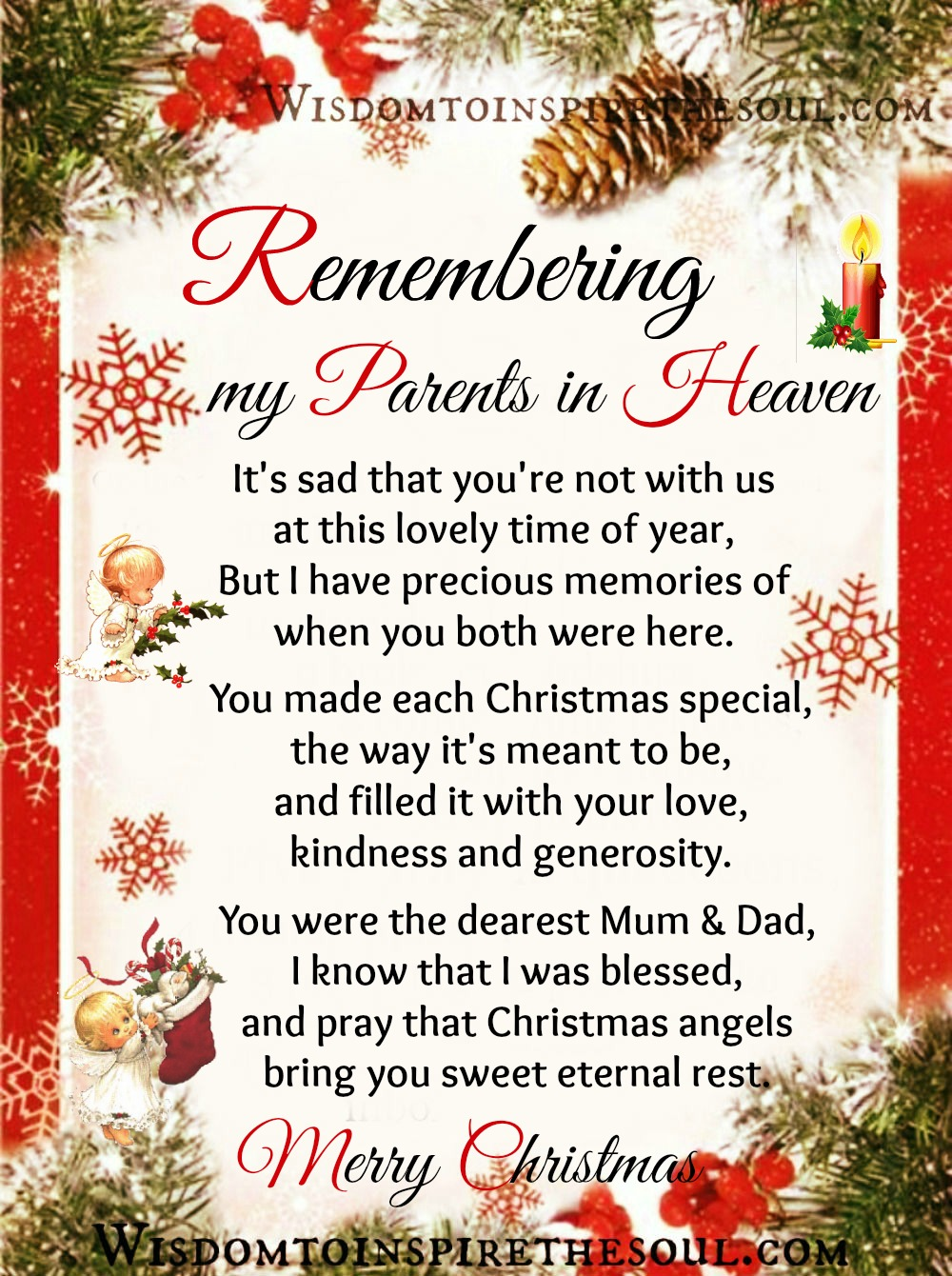 Missing My Mom In Heaven Quotes Daveswordsofwisdom Remembering My Parents In Heaven.