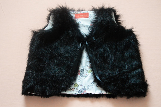 Toddler Faux Fur Vest Free Pattern and Tutorial