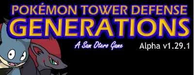 Pokemon Tower Defense 2 Generations flash game review