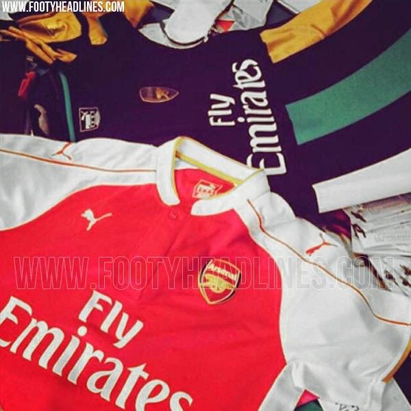 gambar bocoran jersey arsenal home away terbaru musim depan kualitas grade ori