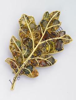 Verdura leaf style Brooch