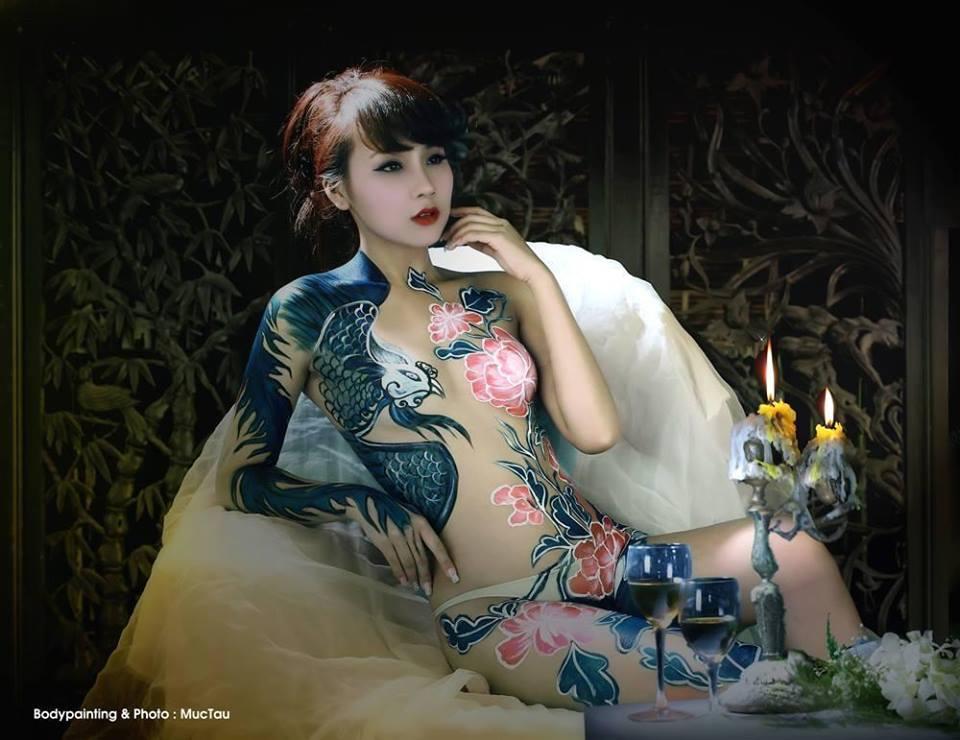 Ảnh gái đẹp sexy với body painting Phần 1 13