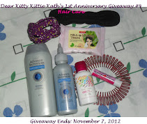 Dear Kitty Kittie Kath's 1st Anniversary Giveaway #4: Hair Care