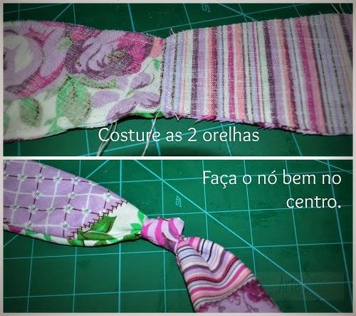 Coelho de páscoa em tecido com molde