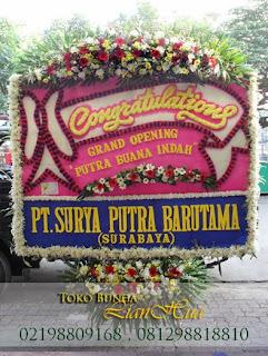 karangan Bunga papan pembukaan ucapan congratulations