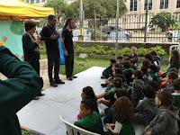 Ao fim da performance, um debate foi feito com os alunos a respeito do tema