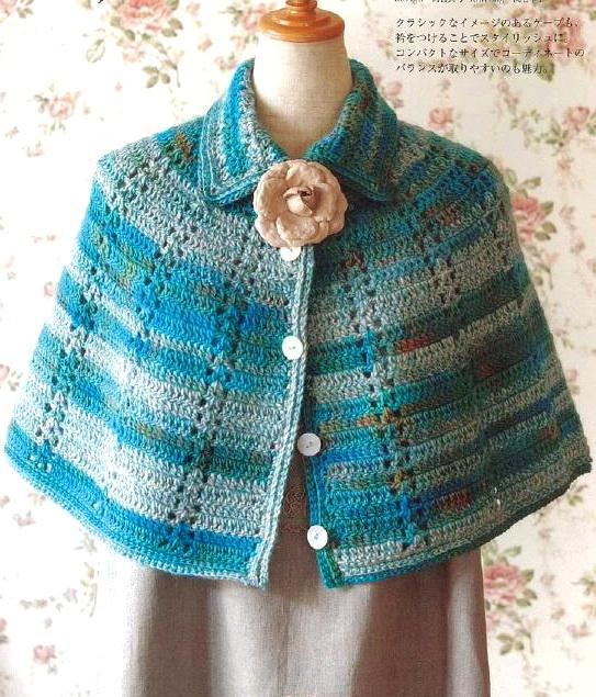 Crochet Shawls: Crochet - Womens Cape For Winter
