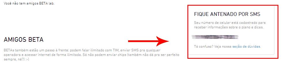 TIM NÚMERO SMS